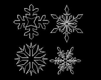 Continuous Machine Embroidery Design STIPPLE SNOWFLAKES