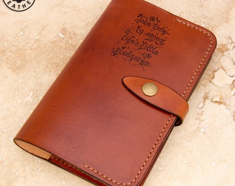 Leather Moleskine Cover (9x14cm Notebook, Light Brown )