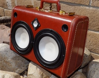 Vintage Suitcase Boomboxes Battery-Powered by HiFiLuggage on Etsy