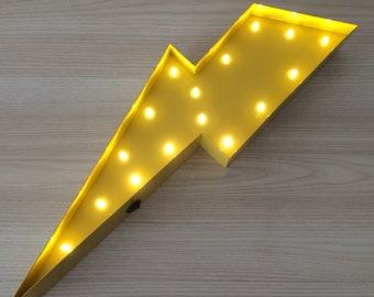 "Lightning Bolt Marquee Letter Light 12""... Light Up Sign, LED battery operated... great for nurseries or kids rooms"