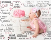 First Birthday Stats, Facts, & Details about Baby on Background Boy or Girl Digital File - fromtheNORTH