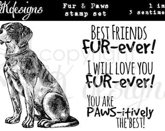 Fur & Paws Digital Stamp Set