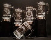 Groomsman Gift Mugs Set of 5, Personalized Groomsman Sports Mug, Personalized Beer Mug, Personalized Groomsmen Gift
