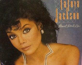 "Vintage 1984 Vinyl Album LaToya Jackson ""Heart Don't Lie"""