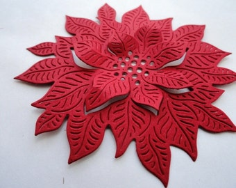 Poinsettias in Bloom Set of 8 Choose your colors!