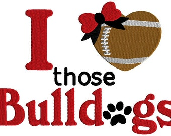 I love those Bulldogs embroidery designs,   3 sizes, machine embroidery,