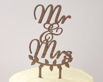 Mr & Mrs // Timber Wedding Cake Topper // Rustic Country Woodland Garden Boho Romance // Australia