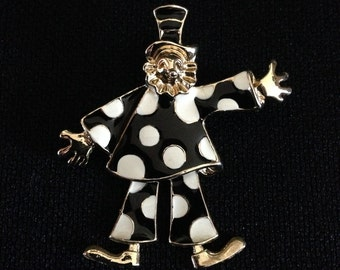Dancing Clown Pin/Brooch (JT1)