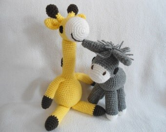 Giraffe and Donkey crochet pattern PDF