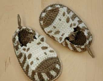 Crochet Patterns for Baby Zebra Crochet Booties Zebra Preemie Socks Animal Shoes Zebra Applique Zebra Slippers Crochet Pattern Newborn Shoes