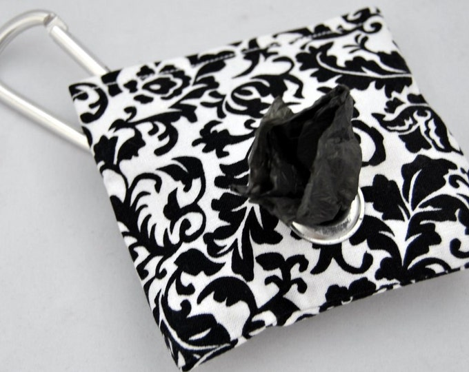 Damask Poop Bag Pouch