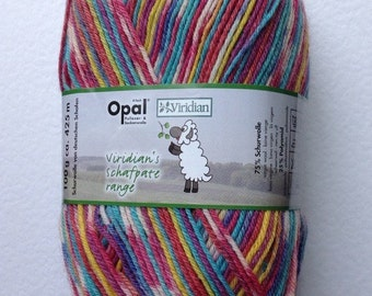 Opal Shafpate 4ply sock yarn by Viridian 100g