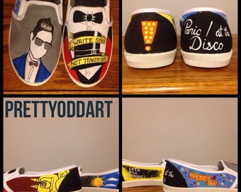 Panic At The Disco Hand Painted Shoes/Vans
