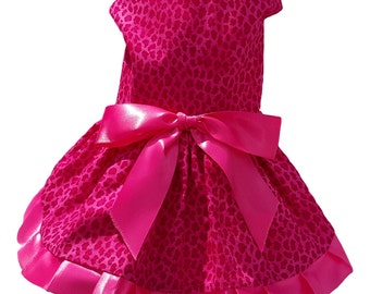 Dog Dress,  Dog Clothing, Pet Clothing, Pet Clothing, Dog Attire, Hot Pink Cheetah