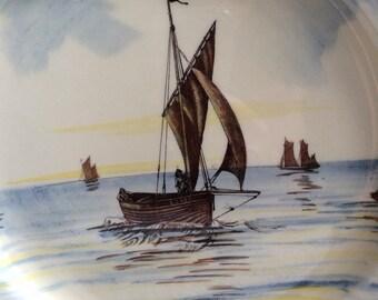 Antique Royal Doulton sailing ships plate