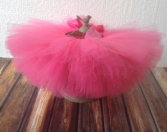 Short & Sweet Hot Pink tutu || baby girl tutu skirt || newborn tutu || birthday tutu || valentines day tutu