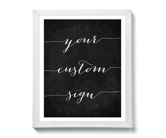 Custom quote prints