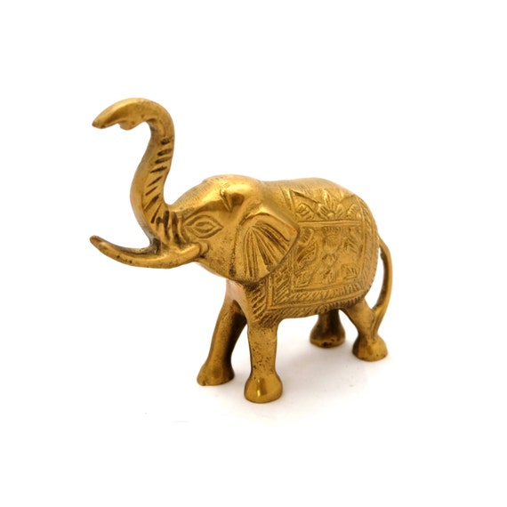 indische messing elefant figur statue der goldene elefant. Black Bedroom Furniture Sets. Home Design Ideas