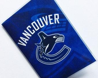 Passport Cover Case Holder -- Vancouver Canucks