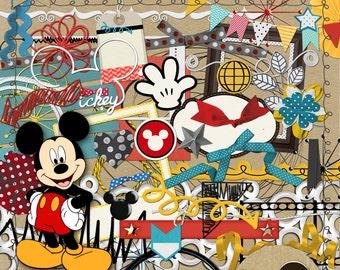 Mickey & Friends Scrapbooking Kit from Carioca Digital