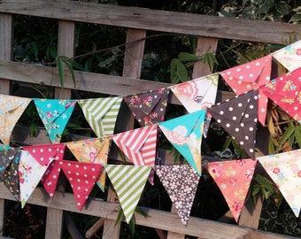 Prairie by Corey Yoder fabric bunting- Handmade bunting, flags or banner for child's bedroom, baby shower, nursery