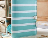 SALE 25% OFF!!! - Webster's Pages - Color Crush A5 Size Planner Kit - Teal Stripe