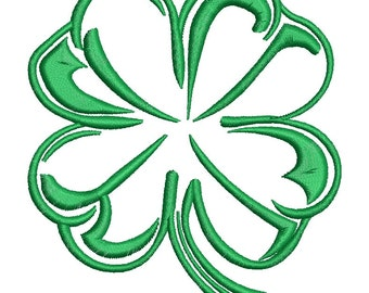 a set of Cloverleafs  Machine Embroidery Designs -  three designs, each design in two sizes 4 * 4 * 3 inches and 3 inches