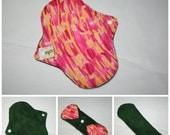 """9"""" Pantyliner/Light Reusable Pad - Pink Blur"""