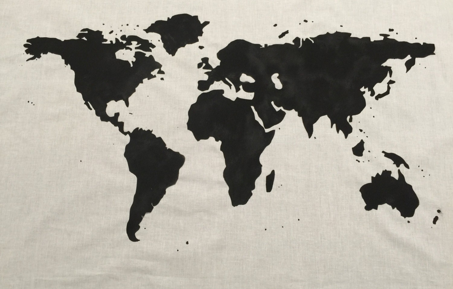 Worksheet. SALE World Map Wall Tapestry in Black