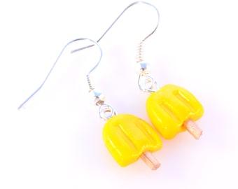 Yellow Lemon Popsicle Earrings
