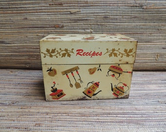Vintage Tin Recipe Box Ohio Art Co.