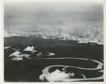 Papua New Guinea aerial view vintage photo