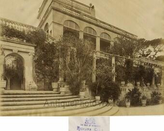 St. Antonia Palace Malta antique albumen photo