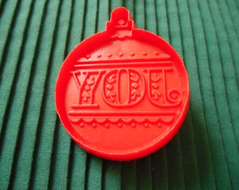 Hallmark Cookie Cutter, A Red Christmas Ornament Cookie Cutter,  JOY 2 3/4  inch Cookie, Hallmark