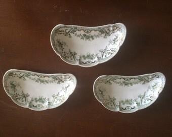 Lot of 3 Bone Dishes John Edwards England keswick porcelain signed by artist