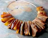 Raw Baltic Amber Necklace , Modern Baltic Amber Jewelry.