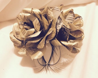 Gold Comicbook Rose Corsage