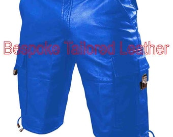 Real Leather Combat Shorts  in custom made to order BSHN004