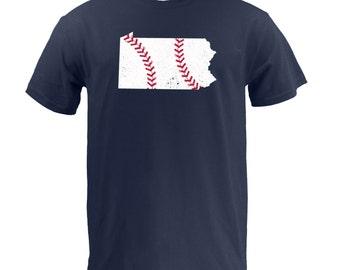 Pennsylvania Baseball (Red/White) - Navy