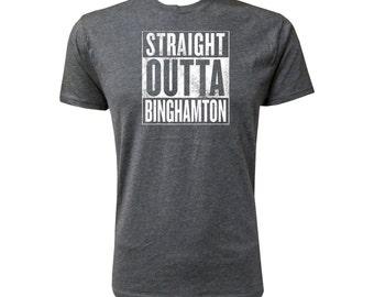Straight Outta Binghamton (White) - NLA Vintage Black