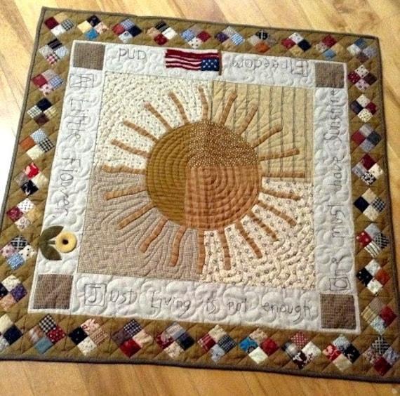 Primitive Folk Art Quilt Pattern Best Of All : Primitive Folk Art Quilt Pattern We All Need A Little