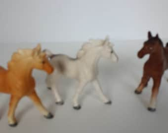 Norcrest Hand Painted Horses - Set of 3