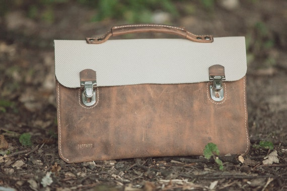 A briefcase, a clutch, a handbag. All in one bag. Full grain leather bag,Leather bag, leather clutch, hand bag, leather bag