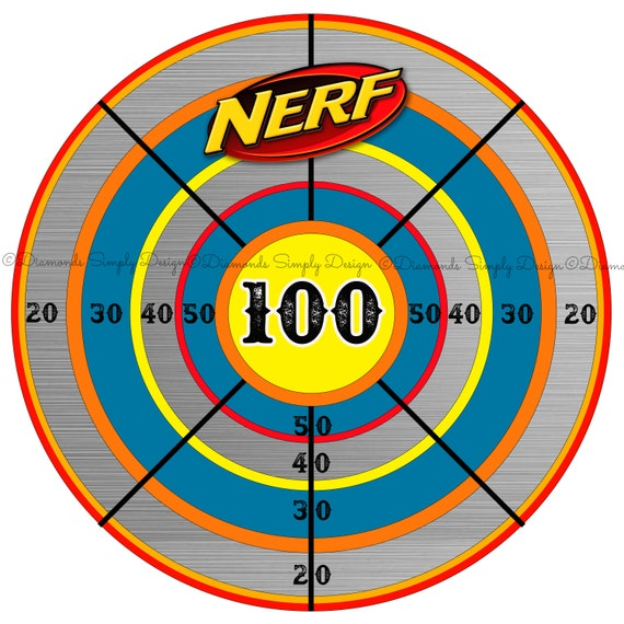 Magic image inside nerf target printable