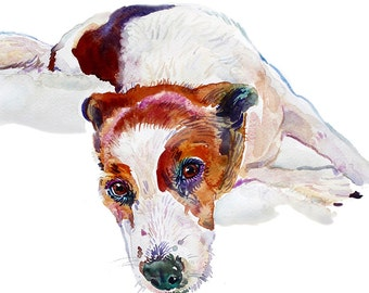 Custom Pet Portrait -  Custom Portraits - Original Art - 11x14inches  - Watercolor Painting - Art - Dogs