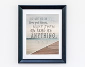 "READY to SHIP 8 x 10! Dave Matthews Band ""Take what you can from your dreams..."" - Grey Street Lyrics Wall Art DMB"