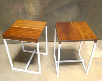 side tables or night stands solid walnut