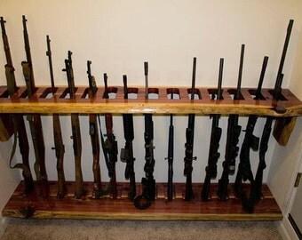 Two (2) Piece Cedar Gun Rack w/ Braces