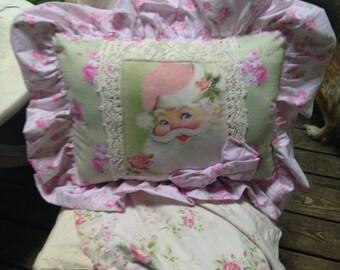 ruffled santa pillow
