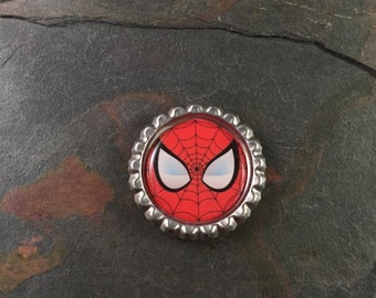 Spiderman Bottle Cap Magnet